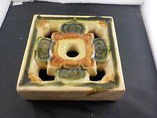claycraft faience ventilator tile california arts crafts pottery divider