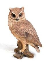 SCREECH OWL ON STUMP LIFE LIKE REALISTIC STATUE FIGURINE HOME GARDEN DECOR