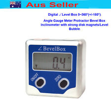 Digital 360°(±180°)Angle Gauge Meter Inclinometer Protractor Bevel Box w/magnet