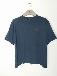 Navy Blue Burberry T Shirt Medium Mens