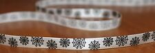 Halloween spooky white spider web printed 10mm satin ribbon arts/crafts