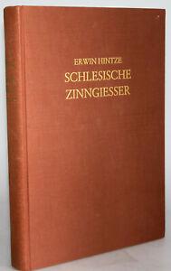 SCHLESISCHE ZINNGIESSER, Markenverzeichnis von ERWIN HINTZE, 1964