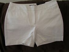 "Ladies ""Apt 9"" Size 8. White, Mid Rise, City, Short Shorts"
