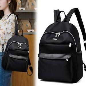 Waterproof Women Backpack Travel Oxford Rucksack School Zipper Soft Bag Outdoor