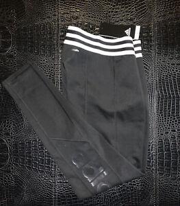 ADIDAS Originals 3 Stripes Women MEDIUM Contour Leggings *Black* NEW RARE