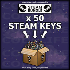 50 x Random Steam CD Keys for PC - CHEAPEST - SALE - [No duplicates]