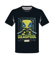 Marvel Yellow Deadpool Funko Small T-Shirt Pop Style New Black Collector Comics