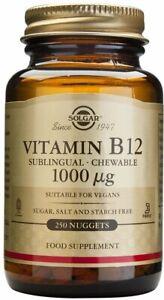Sublingual Vitamin B12 by Solgar, 250 nuggets 1000 mcg