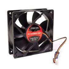 Evercool EC12038HH12BP 120mm x 38mm 12v Dual Ball Cooling Silent Fan PWM 4 pin