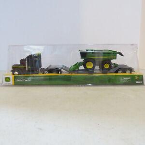 TOMY John Deere Semi Hauling Set Combine w/ Corn Head 1/64 JD-37382-B