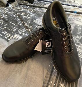 Footjoy Dryjoys Tour Black Golf Shoes Size 10 Brand New