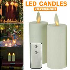 "2Pcs Luminar Flameless Moving Flame Votive Candles 1.58x4.14""  Ivory"