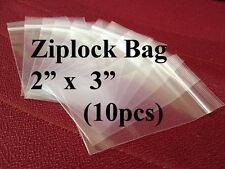 [JSC] Mini Plastic ZipLock Bag for Stamps (2 x 3 inches) x 10pcs