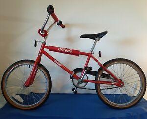 "Vintage 1987 Coca Cola BMX Bike 20"" Akisu, All Original"