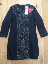BNWT FRENCH CONNECTION Beaded Black Stylish Dress LBD @ Size 8 Style 71CHB NEW