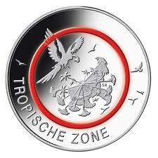 5 Euro Deutschland Tropische Zone - Klimazonen der Erde 2017 Prägebuchstabe F