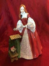 Royal Doulton Figurine Princess Elizabeth Hn 3632 Tudor Roses Series