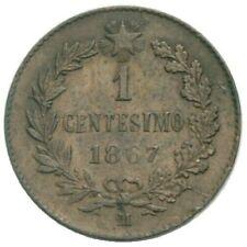 Italy Italia Vittorio Emanuele II 1 Centesimo 1867 M Mailand NICE COIN