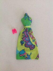 """Vintage Barbie #8680 Best Buy Halter dress """"In Bloom"""" fabric VHTF"""
