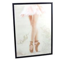 Chicas Bailarina De Pared Arte Retrato Oro Brillo Zapatos Pantalla Colgante De Pared
