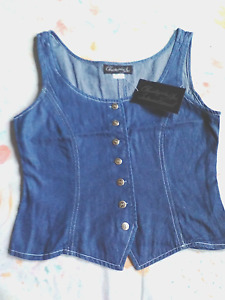 Womens Denim Vest Size S New with Tags