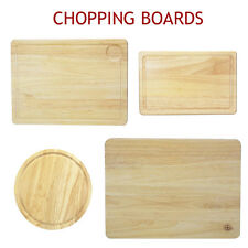 Chopping Board Wooden Cutting Meat Herb Slicing Pastry Round Bread Serving Dice
