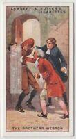 Gerge and Joseph Weston Criminal Brothers England  90+ Y/O Ad Trade Card