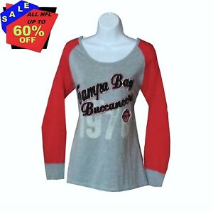 Nfl Womens Apparel * Tampa Bay Buccaneers Womens Raglan Jersey/Tee, nwt, SMALL