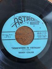 Randy Collier SOMEWHERE IN VIETNAM/BIG RED vinyl 45 RPM garage COUNTRY