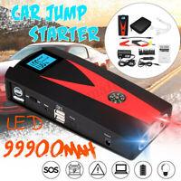 12V 99900mAh 2 USB Car Jump Starter Engine Emergency Charger Battery Power