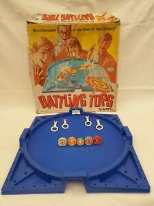 BATTLING TOPS Vintage Board Game by Ideal 1968 Retro Rare - Good Condition !