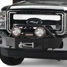 For Ford F-250 Super Duty 11-16 Small Frame Black Powder Coat Winch Mount w Hoop