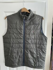 Tommy Hilfiger Green Quilted Gilet - Size Large