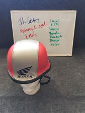Honda Custom Haft Face German Helmet DOT. Red,Grey,Black. Size: M. Unique