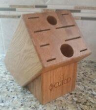 Used Cutco Homemaker 10 Space Oak Block