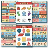 Educational Posters 6 Pack Preschool Classroom