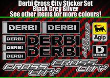 Derbi Cross Ciudad Pegatinas crosscity SM Senda Supermoto 50 125 Negro/Plata