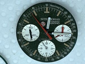 Set Thomas Stingray Chronograph Steel Case Valjoux 72 DIAL HANDS CROWN PUSHERS