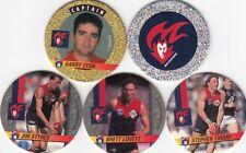 1995 CROWN & ANDREWS AFL COLLECTABLE POGS BASE TEAM SET (5)- MELBOURNE