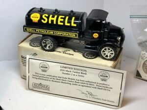ERTL Scale Models SHELL 1935 MACK TANKER DIE CAST BANK NIB GJ-3011 Bulldog 1994