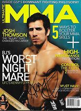 KENNY FLORIAN AUTOGRAPHED ULTIMATE MMA MAGAZINE- SEPT 2009    UFC, WEC, PRIDE
