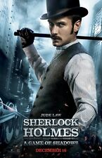 Sherlock Holmes poster (e) A Game Of Shadows movie poster - Jude Law