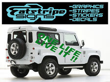 LAND Rover Discovery Grafica Vinile Decalcomanie Adesivi 4x4 OFFROAD One Life Live It