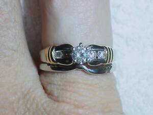 PLATINUM-18K DIAMOND WEDDING SET - SIZE 7.5   -   LB461