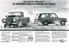 PUBLICITE ADVERTISING  1984   LAND ROVER   RANGE ROVER dernier duel  ( 2 pages)