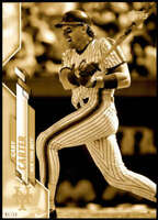 Gary Carter 2020 Topps Short Print Variations 5x7 Gold #649 /10 Mets