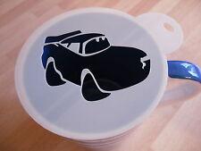 Laser cut car design coffee and craft stencil