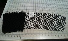 """7x106""""L Black Cracked Ice Spider Lace Remnant Fabric Costume Small Craft Project"""