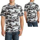 Mens CAMO T-Shirt Pigment Dyed PRESHRUNK Cotton S, M, L, XL, 2XL, 3XL, 4XL NEW