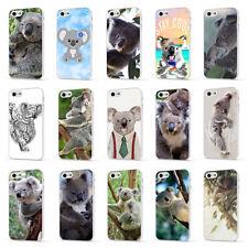 Koala Oso Vida Silvestre Animal Lindo Teléfono Blanco Estuche Cubierta para iPhone 4 5 6 7 8 X